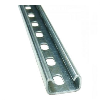 Channel - slotted - 41 x 22mm - galvanised strut
