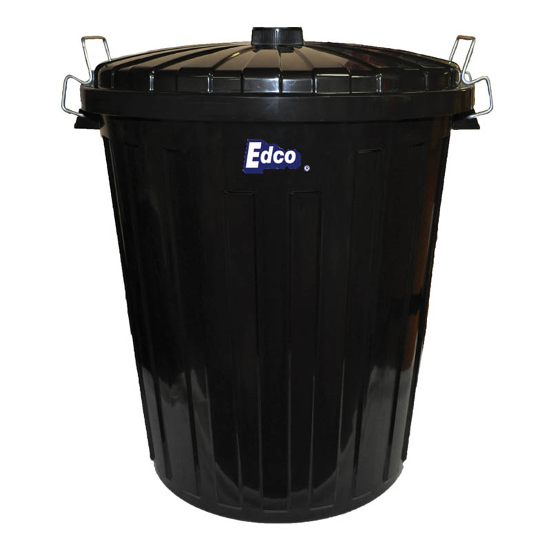 Edco garbage bin - with lid - 73L
