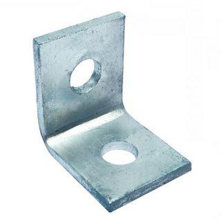 Angle brackets - 90 degree fittings - 2 holes - galvanised