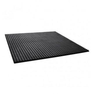 Anti-vibration waffle pads - rubber mats - black