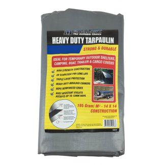 Medalist heavy duty tarpaulins - black & silver