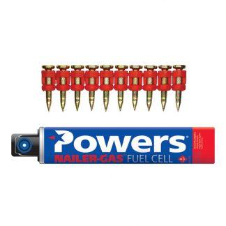 Powers Trak-It C5 pins - with fuel cells - for hard concrete - zinc