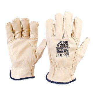 ProChoice Riggamate cow grain premium leather gloves - beige
