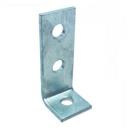 Angle brackets - 90 degree fittings - 3 holes - galvanised