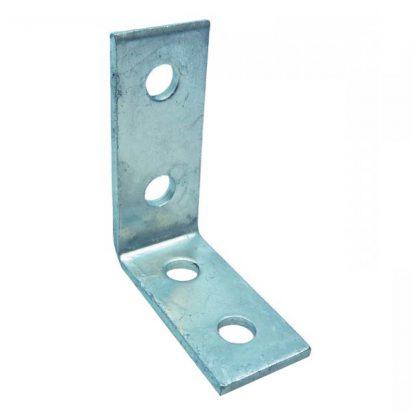 Angle brackets - 90 degree fittings - 4 holes - galvanised