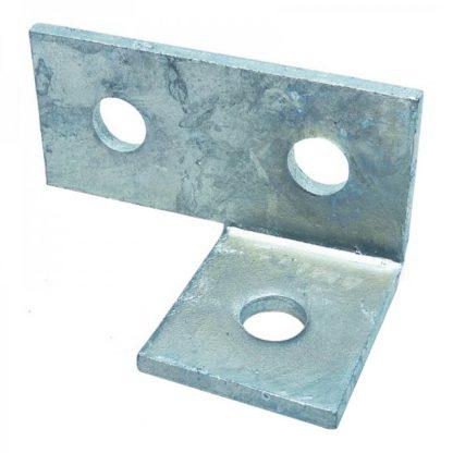 Angle brackets - 90 degree left hand side fittings - 3 holes - galvanised