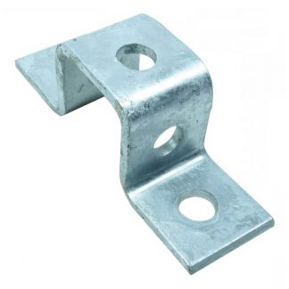 Angle brackets - U shape fittings - 5 holes - for 41x41mm channel - galvanised