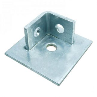 Base plates - with 2 hole collars - galvanised