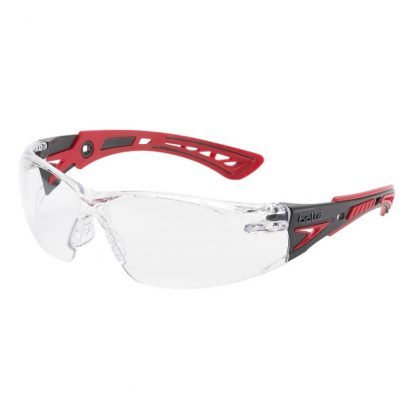 Bollé Rush+ safety glasses - platinum lens - medium impact - clear