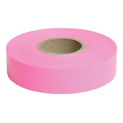 Dy-Mark survey flagging tape - 100m - glo pink