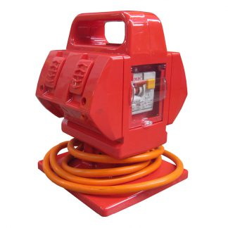 Guardian portable safety power outlet - weatherproof - 4 x 10Amp outlets - orange