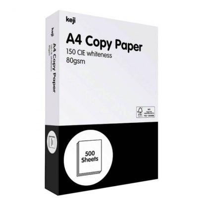 Keji A4 copy paper - 80gsm - ream - white