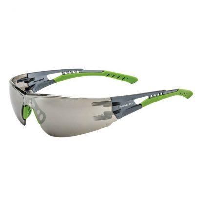 Mack VX2 safety glasses - crystal mirror lens - medium impact - smoke