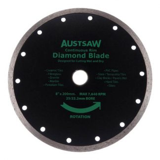 Austsaw diamond blades - continuous rim - 200mm blade