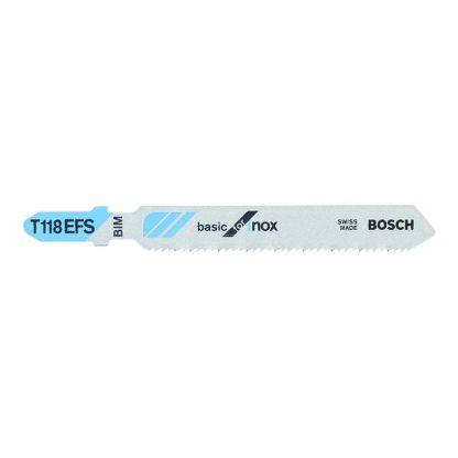 Bosch T118EFS jigsaw blades - basic for stainless steel - 83mm