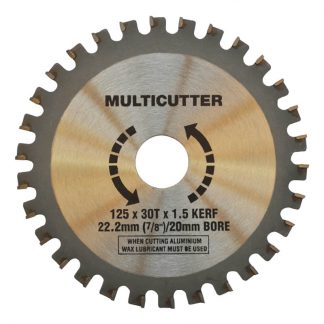 Craftmaster multicutter saw blades - for plastic, aluminium, timber & fibreglass - 125mm - TCT