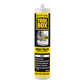 H.B. Fuller Toolbox high tack hybrid adhesive sealant - cartridge - white