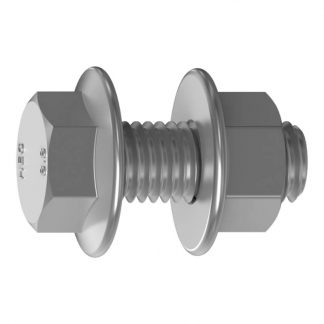 Purlin bolts - hex flange head - with flange nuts - structural assembly - box