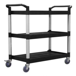 Richmond service trolleys - 3 tier - black