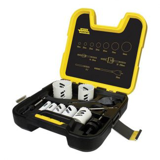 Alpha White Pointer electrician's holesaw kit - 11 piece - assorted sizes