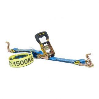 Beaver ratchet tie down assembly - 1500kg lashing capacity - blue
