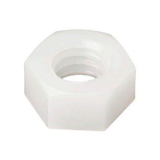 Hex nuts - nylon - white