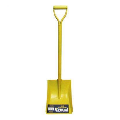 Impact-A shovel - square mouth - D handle - yellow