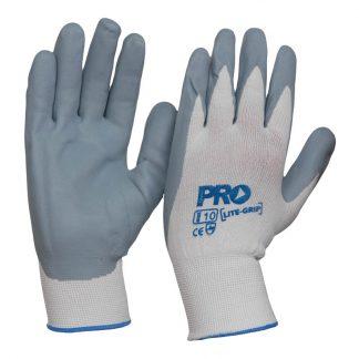 ProChoice LiteGrip nitrile safety gloves - grey & white