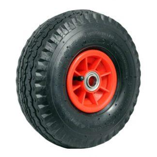 Richmond pneumatic wheels - 100kg load capacity - black & red