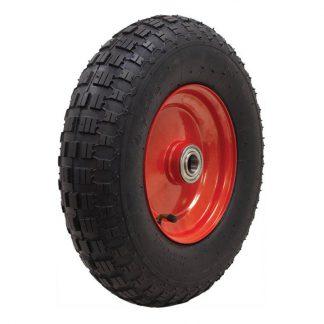 Richmond pneumatic wheels - 200kg load capacity - black & red