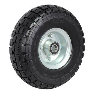 Richmond pneumatic wheels - puncture proof - 100kg load capacity - black & silver